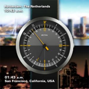 Werking dual time Botta Design horloge DUO