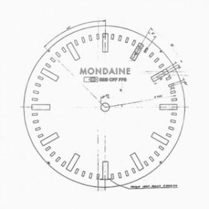 Originele klok ontwerp voor mondaine horloges