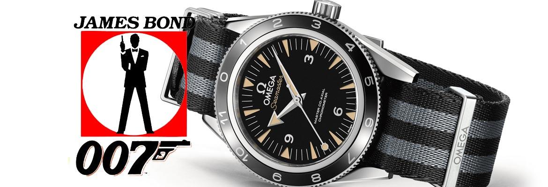 De horloges van James Bond (infographic)