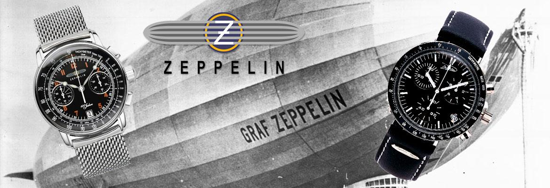 Zeppelin horloges in close up