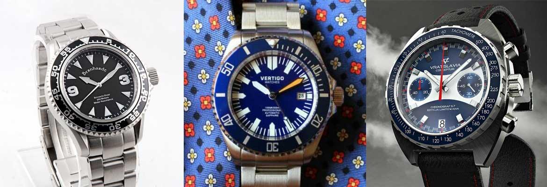 Gespot: Vertigo Diver One - Bernhardt Binnacle Diver - Vratislavia Chronograf